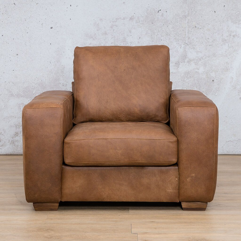 Stanford Leather Couch | 1 seater couch | Fudge-S | Couches for Sale | Leather Gallery Couches