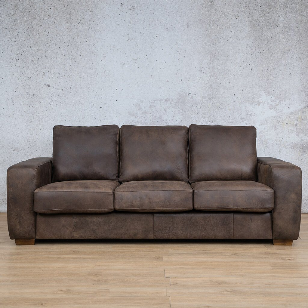 Stanford Leather Couch | 3 Seater Couch | Couches for Sale | Zambezi Brown-S | Leather Gallery Couches