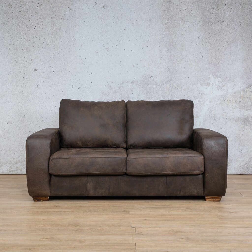 Stanford Leather Couch | 2 seater couch | Zambezi Brown-S | Couches for Sale | Leather Gallery Couches