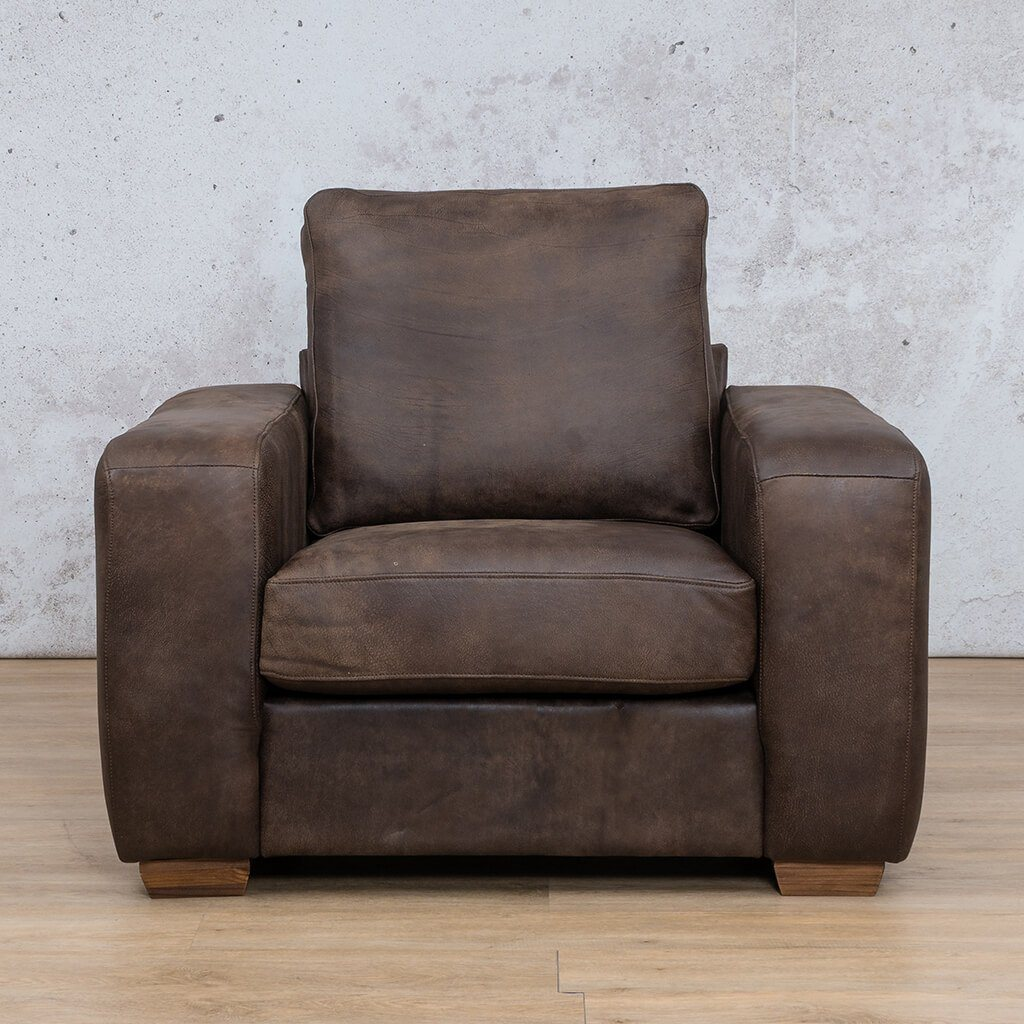 Stanford Leather Couch | 1 seater couch | Zambezi Brown-S | Couches for Sale | Leather Gallery Couches