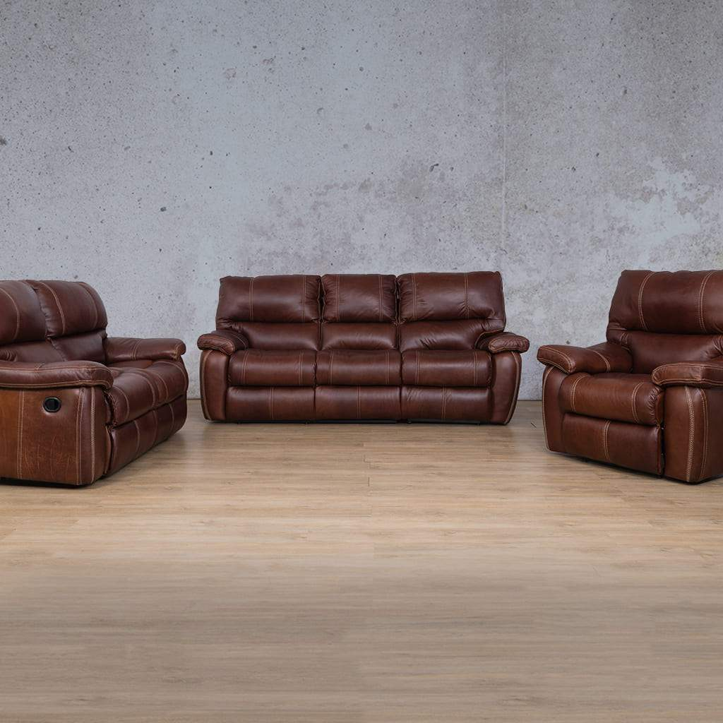 Senora Leather Recliner Couches | 3-2-1 Seater Couches | Odingo Bark-S | Couches For Sale | Leather Gallery Couches