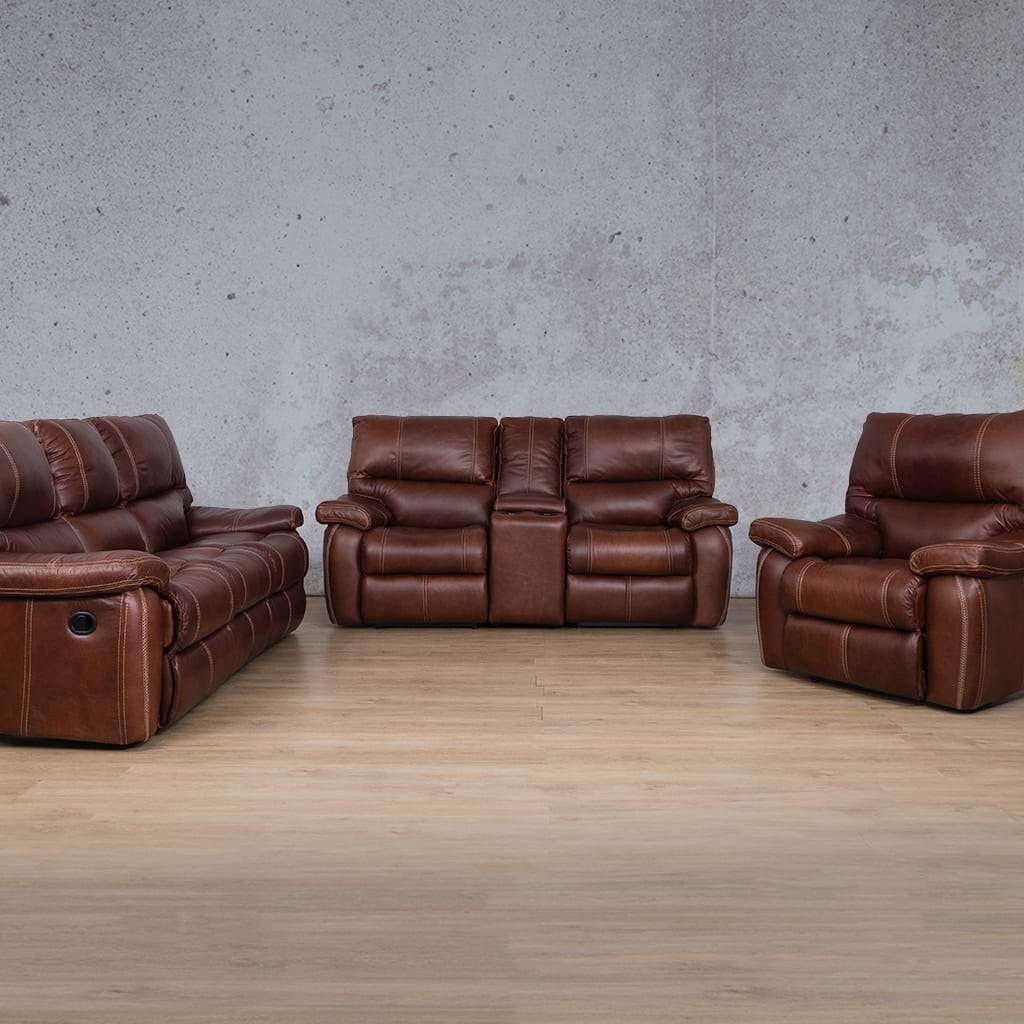 Senora Leather Recliner Couches | 3-2-1 Seater Home Theatre | Odingo Bark-S | Couches For Sale | Leather Gallery Couches