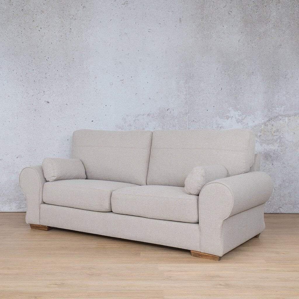Carolina Fabric Couch | 3 seater couch | Dapple-C | Front Angled | Couches for Sale | Leather Gallery Couches
