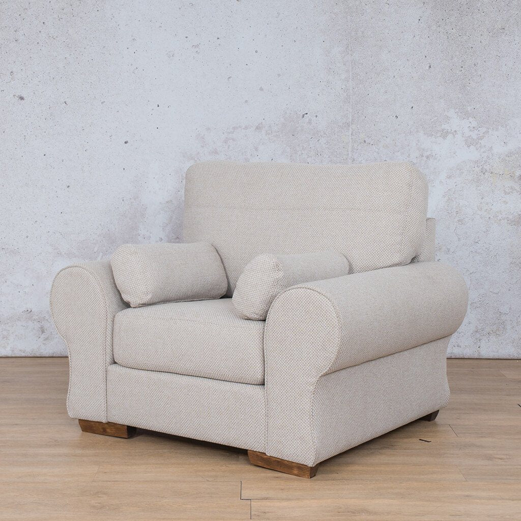 Carolina Fabric Couch | 1 seater couch | Dapple-C | Front Angled | Couches for Sale | Leather Gallery Couches