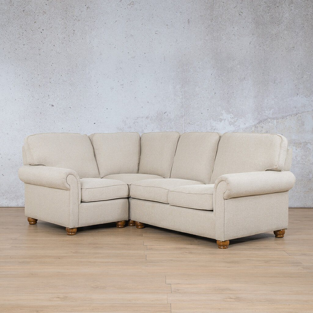 Salisbury Fabric Corner Couch | L-Sectional 4 Seater-LHF | Riverside-S | Front Angled | Couches For Sale | Leather Gallery Couches