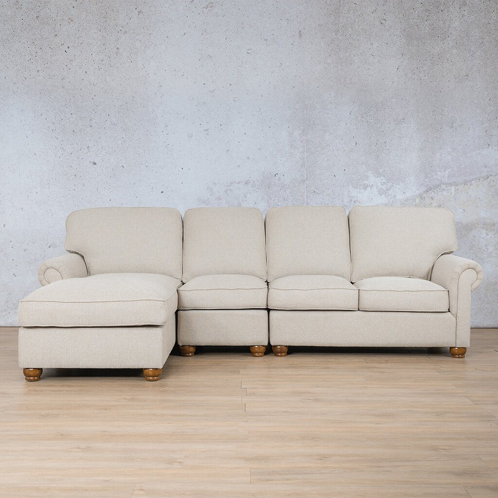 Salisbury Fabric Corner Couch | Chaise Modular U-Sofa Sectional-LHF | Riverside-S | Couches For Sale | Leather Gallery Couches