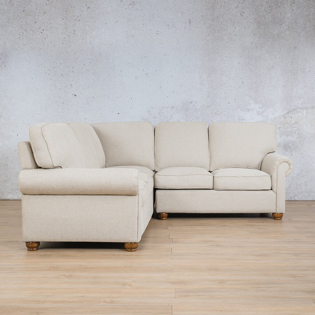 Salisbury Fabric Corner Couch | L-Sectional 5 Seater | Riverside-S | Front Angled | Couches For Sale | Leather Gallery Couches