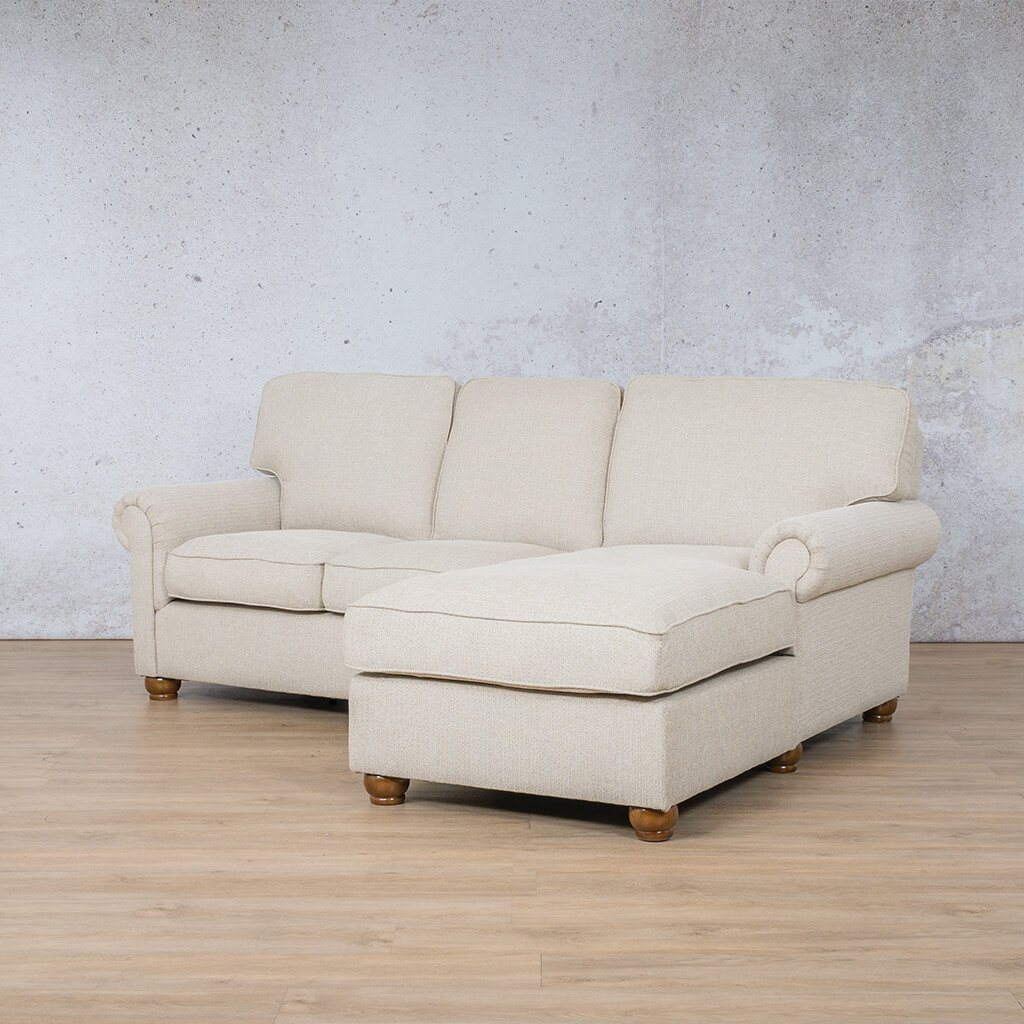 Salisbury Fabric Corner Couch | Chaise Sectional-RHF | Riverside-S | Front Angled | Couches For Sale | Leather Gallery Couches