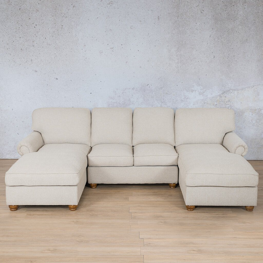 Salisbury Fabric Corner Couch | U-Chaise Sofa Sectional | Riverside-S | Couches For Sale | Leather Gallery Couches