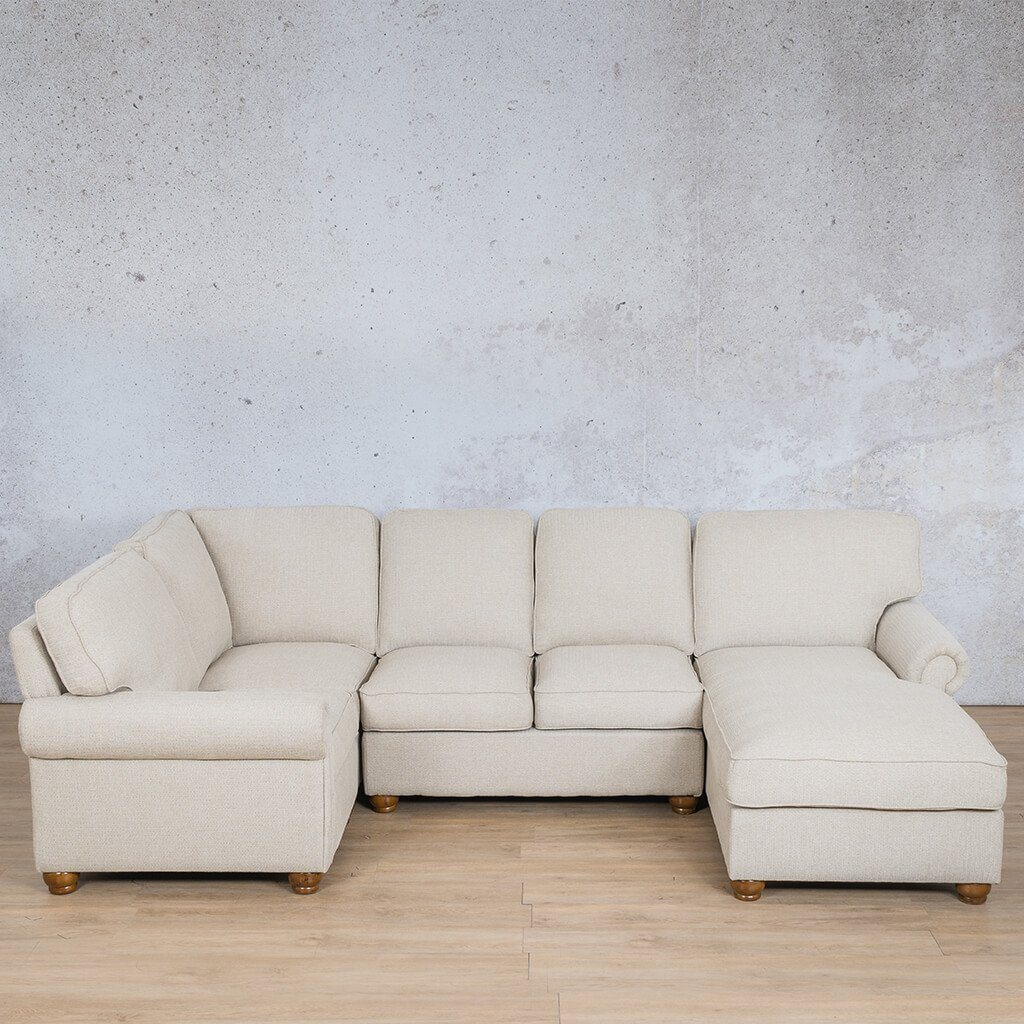Salisbury Fabric U-Sofa Chaise Sectional - RHF