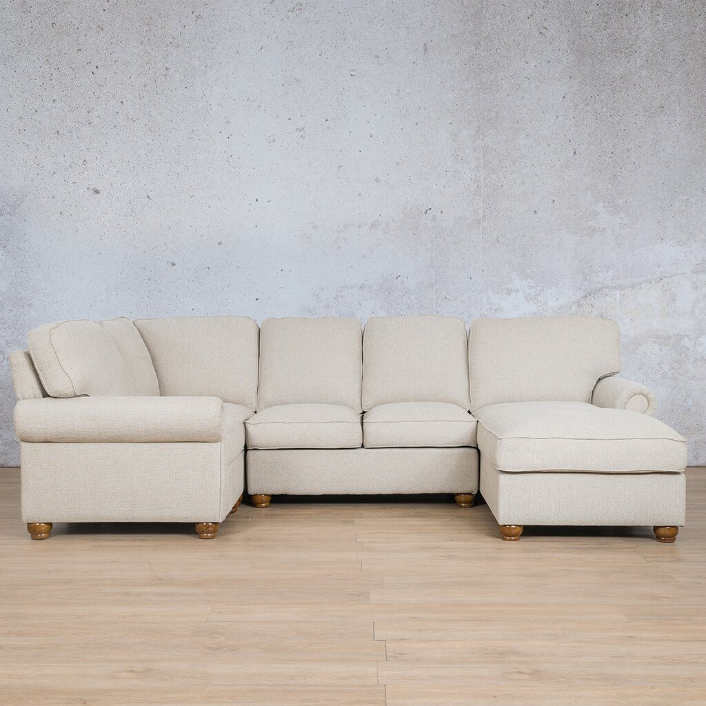 Salisbury Fabric Corner Couch | U-Sofa Chaise Sectional-RHF | Riverside-S | Couches For Sale | Leather Gallery Couches