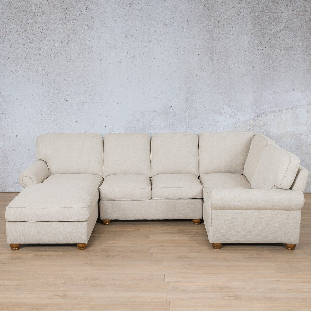 Salisbury Fabric Corner Couch | U-Sofa Chaise Sectional-LHF | Riverside-S | Couches For Sale | Leather Gallery Couches