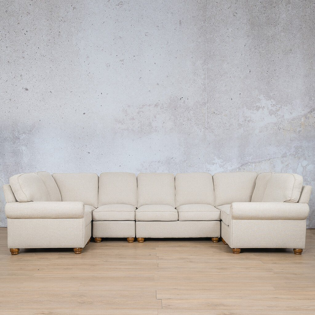 Salisbury Fabric Corner Couch | Modular U-Sofa Sectional | Riverside-S | Couches For Sale | Leather Gallery Couches