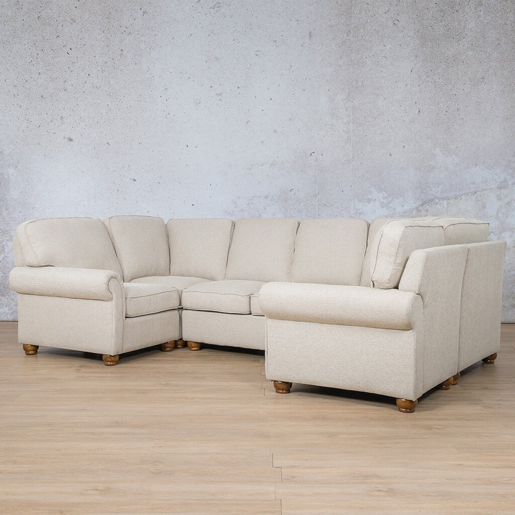 Salisbury Fabric Corner Couch | U-Sofa Sectional Couch | Riverside-S | Front Angled | Couches For Sale | Leather Gallery Couches