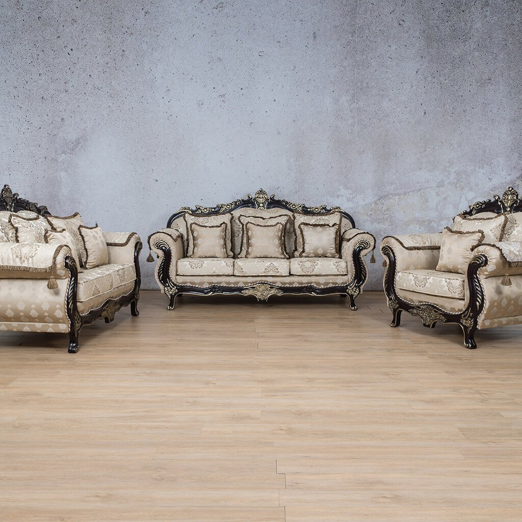 Berlin Fabric Suite | 3+2+1 Suite | Beige | Leather Gallery