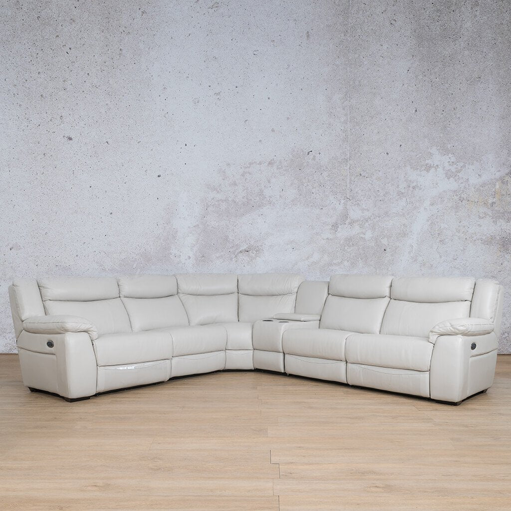 Montana Leather Corner Couch | Corner Couch | Beige-Mon | Couches For Sale | Leather Gallery Couches