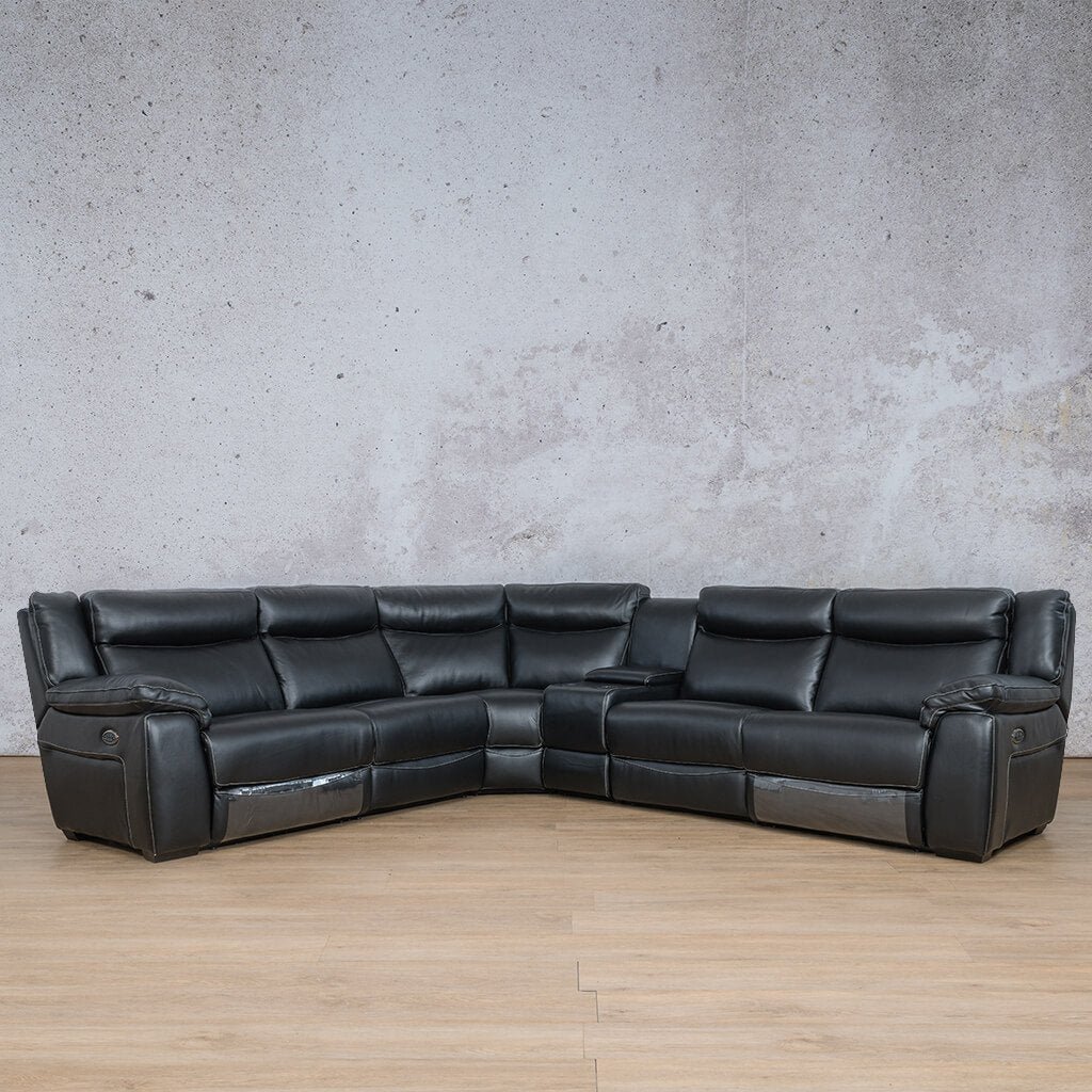 Montana Leather Corner Couch | Corner Couch | Black-Mon | Couches For Sale | Leather Gallery Couches