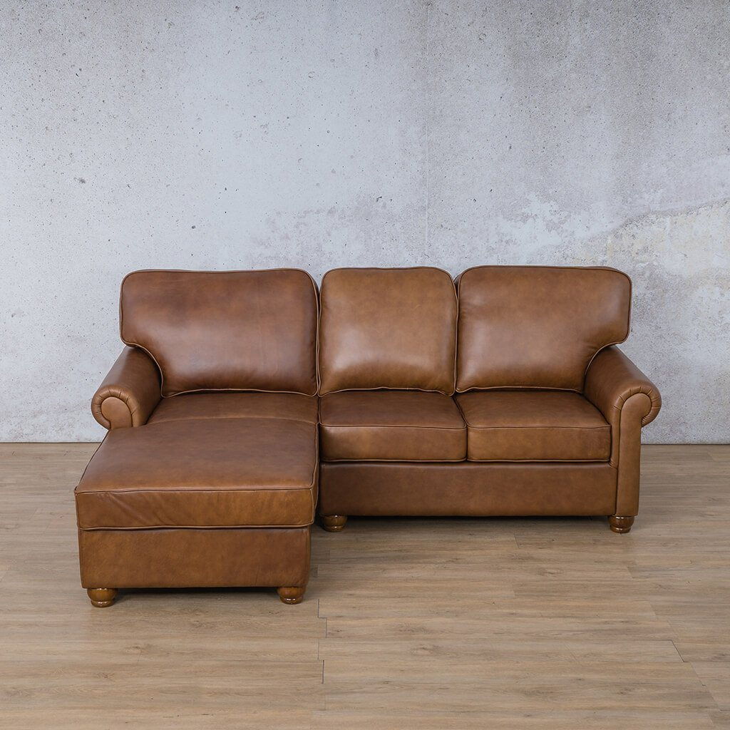 Salisbury Leather Corner Couch | Chaise Sectional-LHF | Czar Pecan-S | Couches For Sale | Leather Gallery Couches