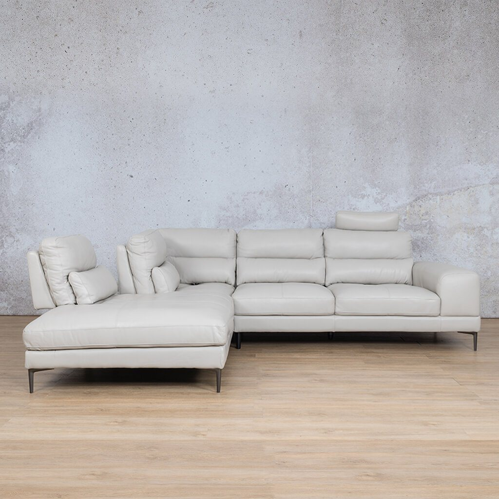 Madrid Leather Corner Couch | Sectional | Beige-M | Couches For Sale | Leather Gallery Couches