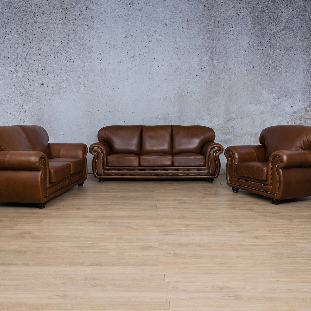 Isilo Leather Couches | 3-2-1 Seater Couches | Couches for Sale | Royal Walnut | Leather Gallery Couches