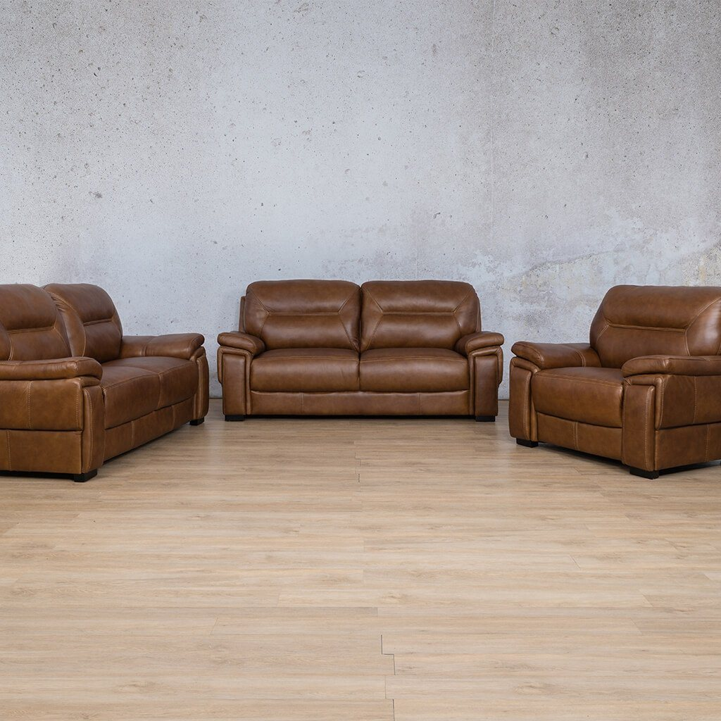 San Lorenze Leather Couches | 3-2-1 Seater Couches | Couches for Sale | Czar Pecan-S | Leather Gallery Couches