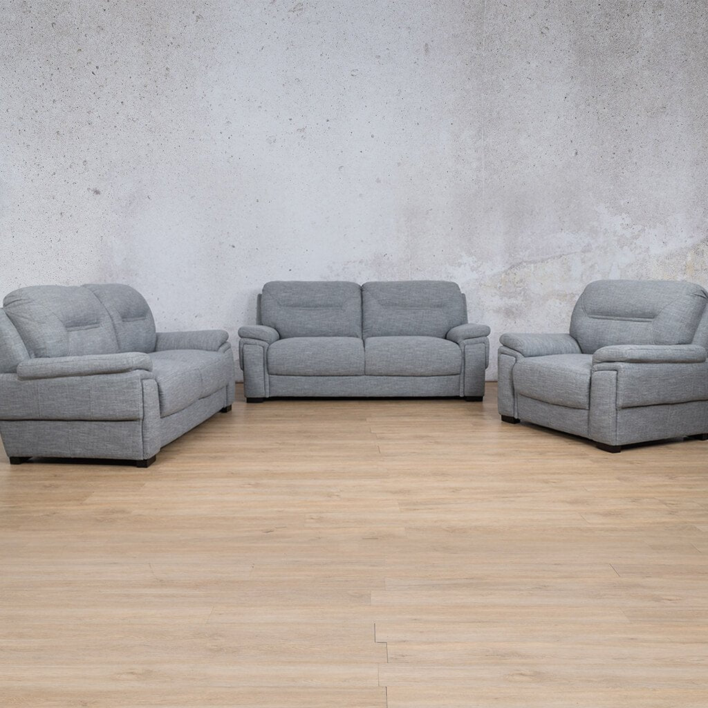 San Lorenze Fabric Couches | 3-2-1 seater couch | Mirage Grey | Couches for Sale | Leather Gallery Couches