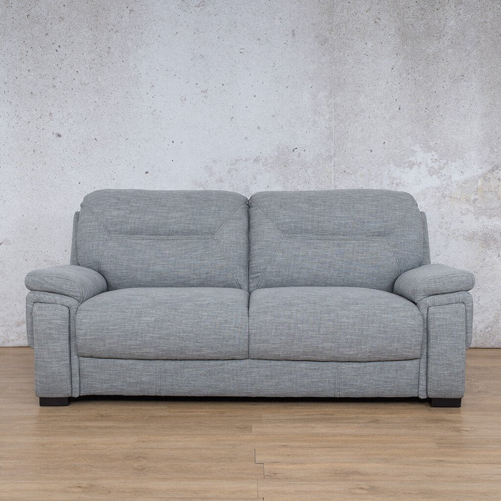 San Lorenze Fabric Couch | 3 seater couch | Mirage Grey | Couches for Sale | Leather Gallery Couches