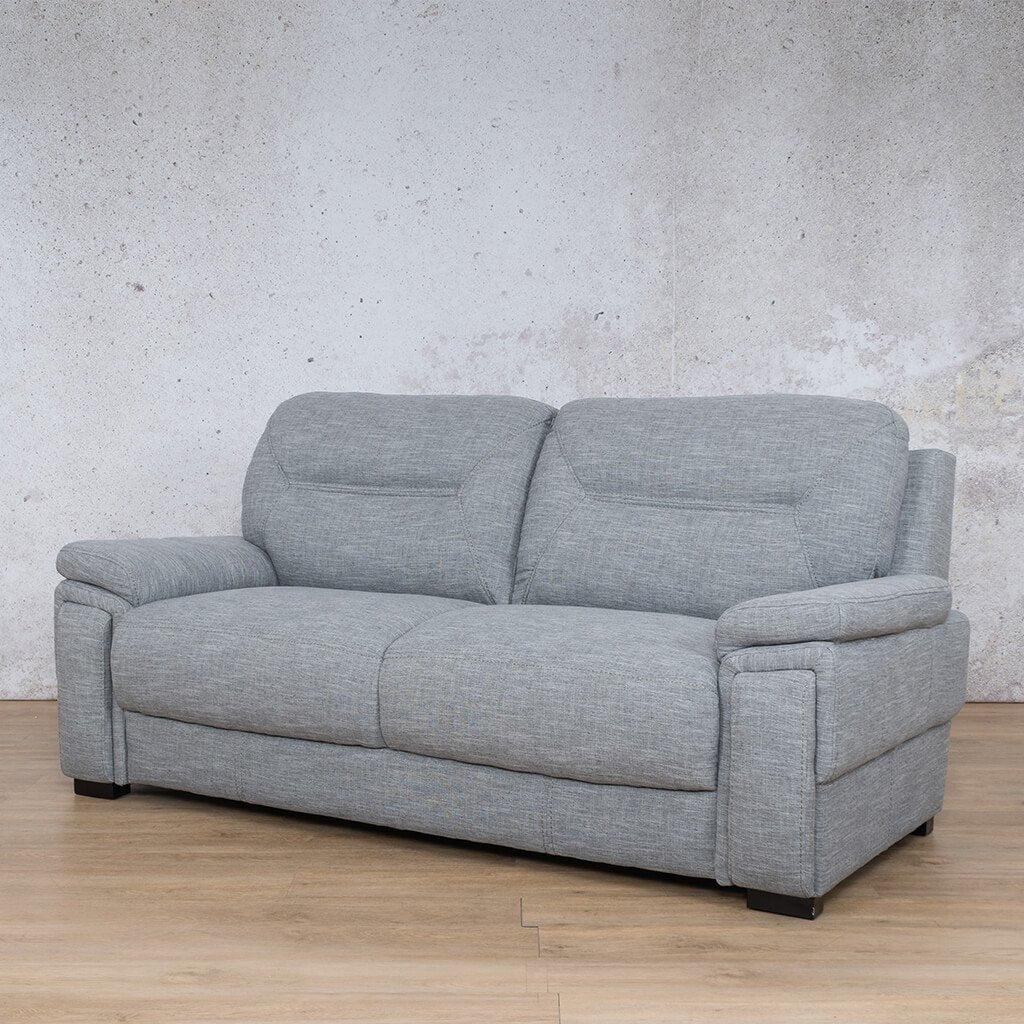 San Lorenze Fabric Couch | 3 seater couch | Mirage Grey | Front Angled | Couches for Sale | Leather Gallery Couches