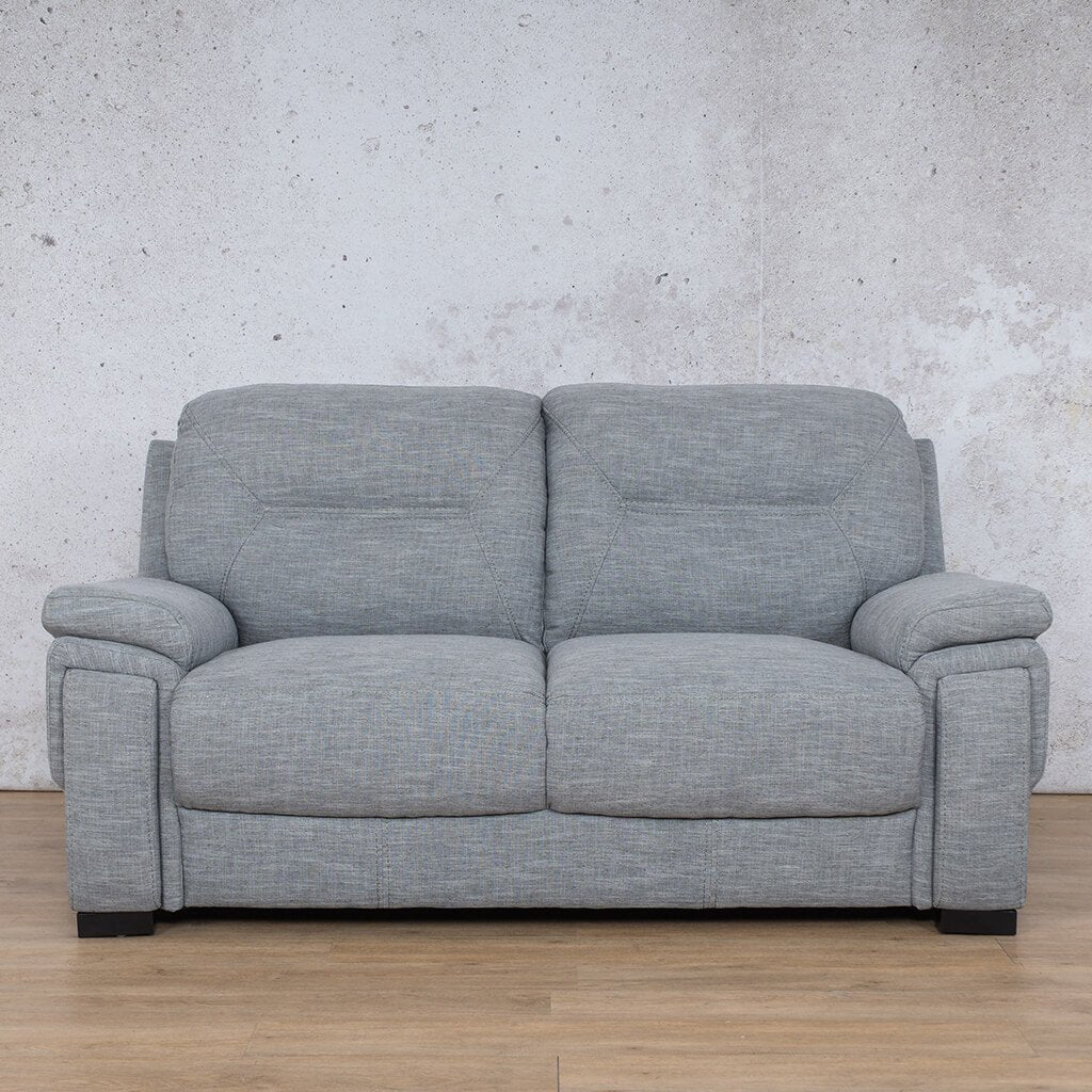 San Lorenze Fabric Couch | 2 seater couch | Mirage Grey | Couches for Sale | Leather Gallery Couches