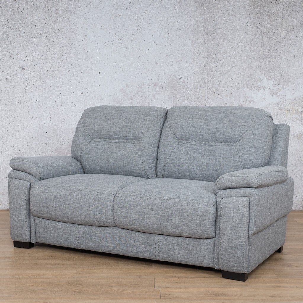 San Lorenze Fabric Couch | 2 seater couch | Mirage Grey | Front Angled | Couches for Sale | Leather Gallery Couches