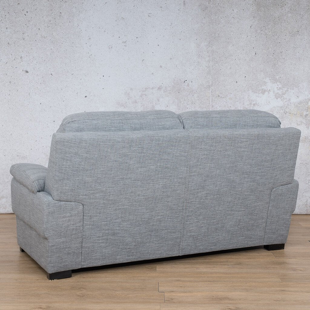 San Lorenze Fabric Couch | 2 seater couch | Mirage Grey | Back Angled |Couches for Sale | Leather Gallery Couches