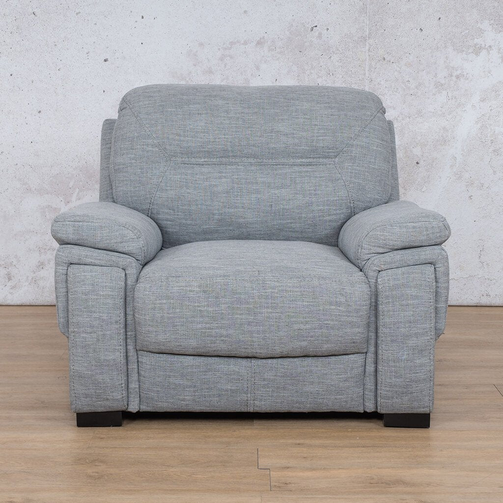 San Lorenze Fabric Couch | 1 seater couch | Mirage Grey | Couches for Sale | Leather Gallery Couches