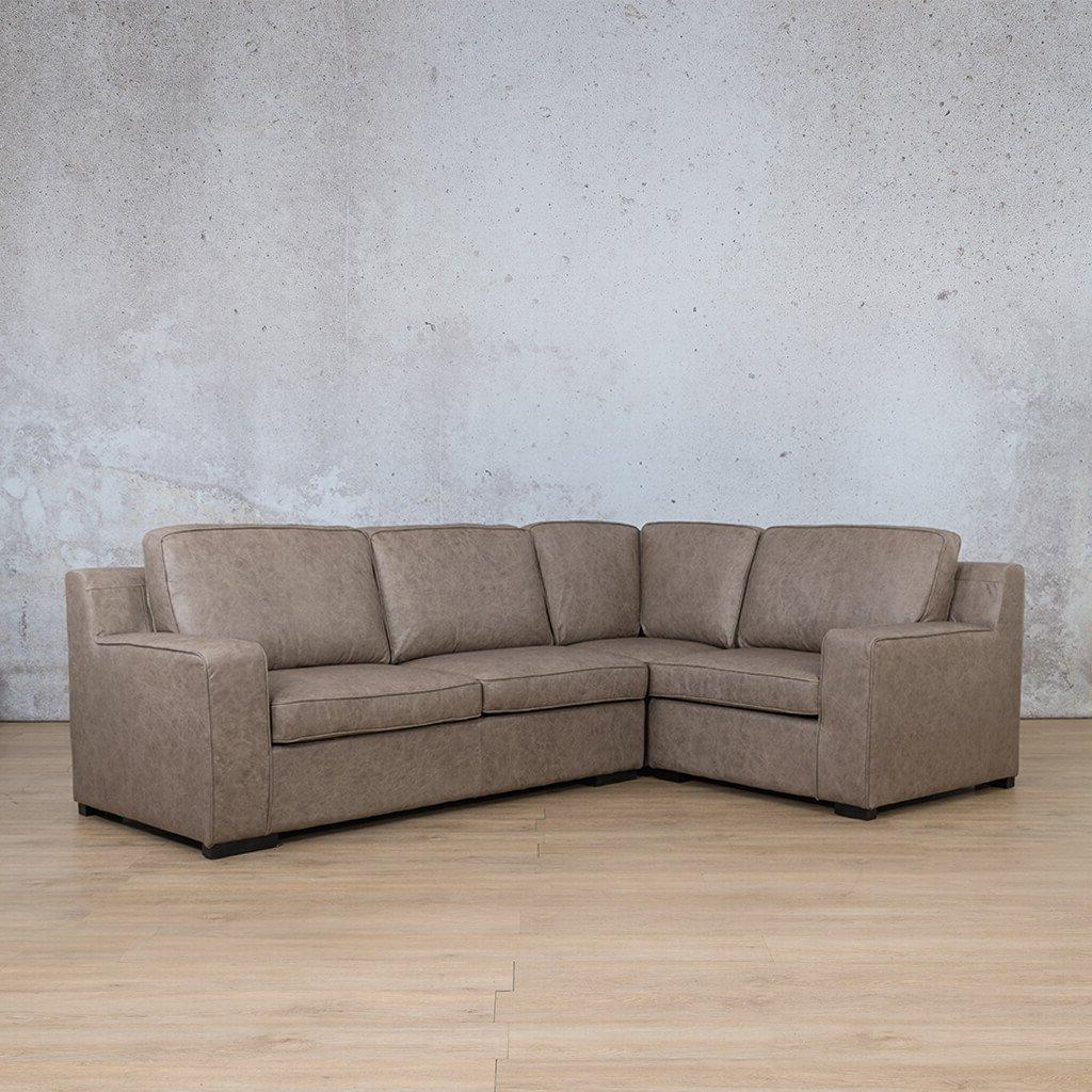 Arizona Leather L-Sectional 4 Seater - RHF