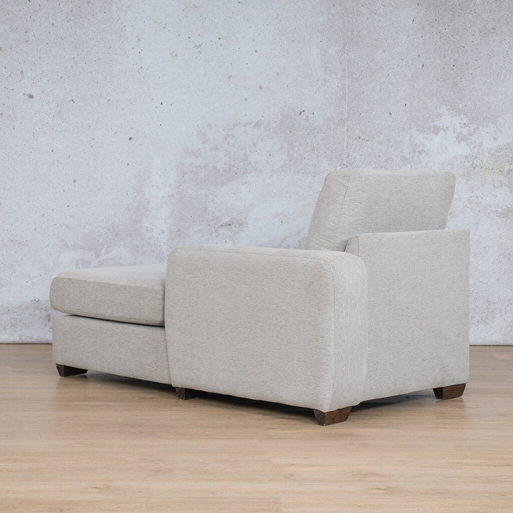 Stanford Fabric Corner Couch | Fabric Chaise Left Arm | Pebble | Back Angled | Couches For Sale | Leather Gallery Couches