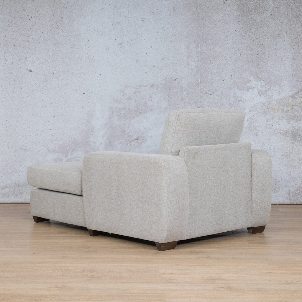 Stanford Fabric Corner Couch | 2 Arm Chaise | Pebble | Back Angled | Couches For Sale | Leather Gallery Couches