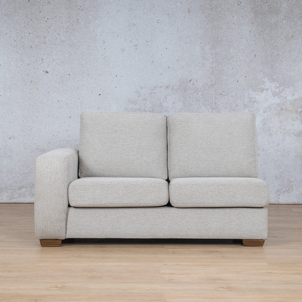 Stanford Fabric Corner Couch | 2 Seater Right Arm | Pebble | Couches For Sale | Leather Gallery Couches