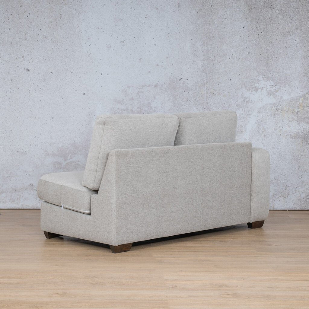Stanford Fabric Corner Couch | 2 Seater Right Arm | Pebble | Back Angled | Couches For Sale | Leather Gallery Couches