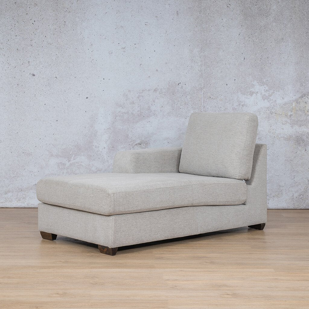 Stanford Fabric Corner Couch | Fabric Chaise Right Arm | Pebble | Front Angled | Couches For Sale | Leather Gallery Couches