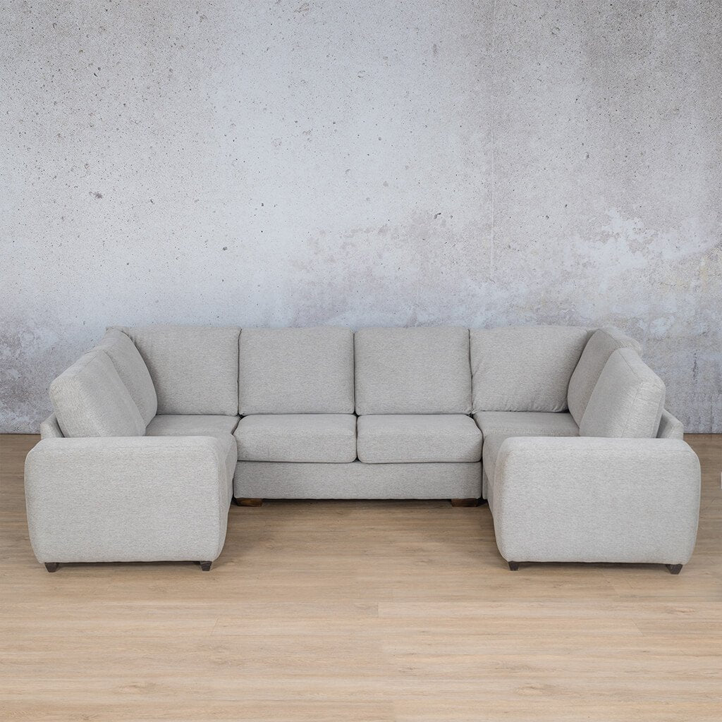 Stanford Fabric Corner Couch | U-Sofa Couch | Pebble | Couches For Sale | Leather Gallery Couches