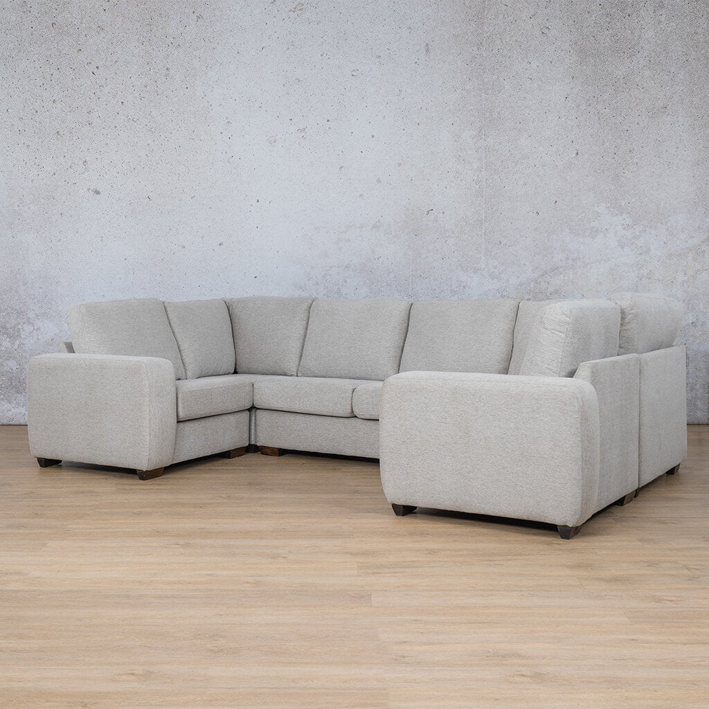 Stanford Fabric Corner Couch | U-Sofa Couch | Pebble | Side | Couches For Sale | Leather Gallery Couches