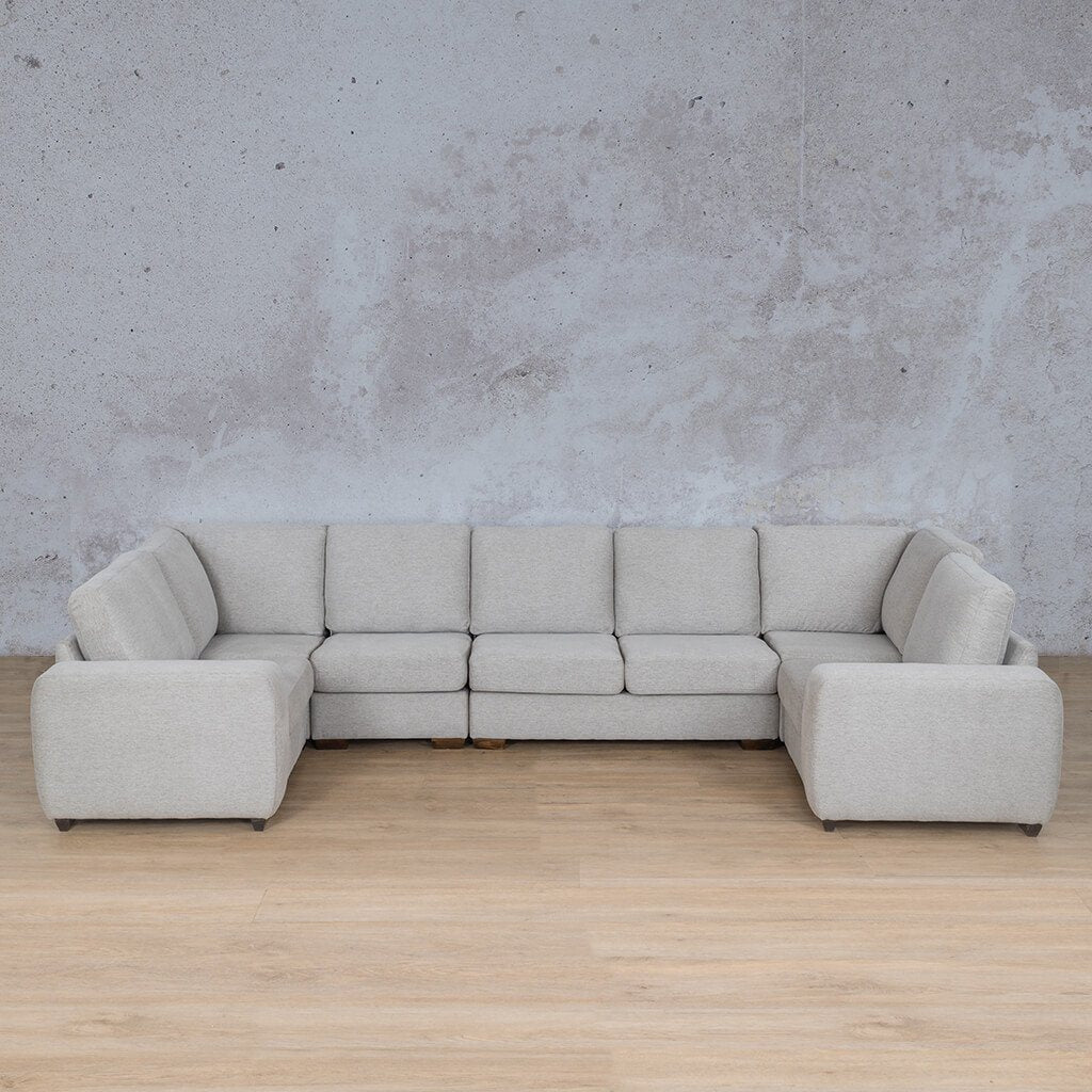 Stanford Fabric Corner Couch | Modular U-Sofa Couch | Pebble | Couches For Sale | Leather Gallery Couches