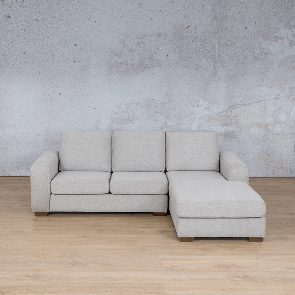 Stanford Fabric Corner Couch | Sofa Chaise-RHF | Pebble | Couches For Sale | Leather Gallery Couches