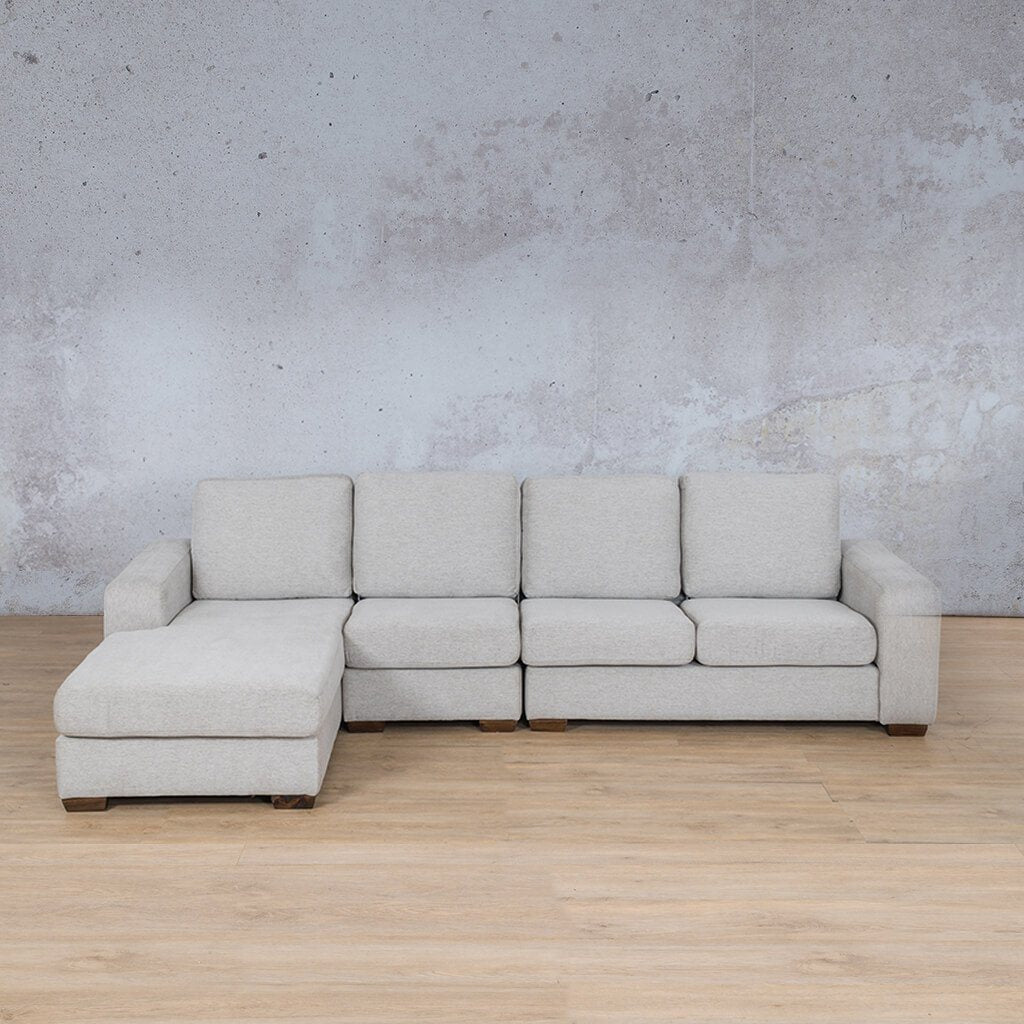 Stanford Fabric Corner Couch | Modular Sofa Chaise-LHF | Pebble | Couches For Sale | Leather Gallery Couches
