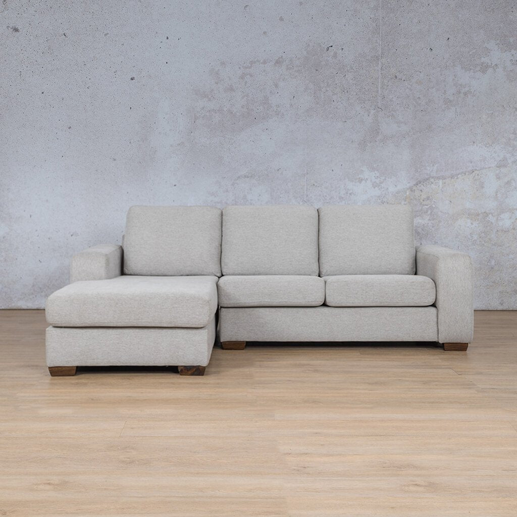 Stanford Fabric Corner Couch | Sofa Chaise-LHF | Pebble | Couches For Sale | Leather Gallery Couches