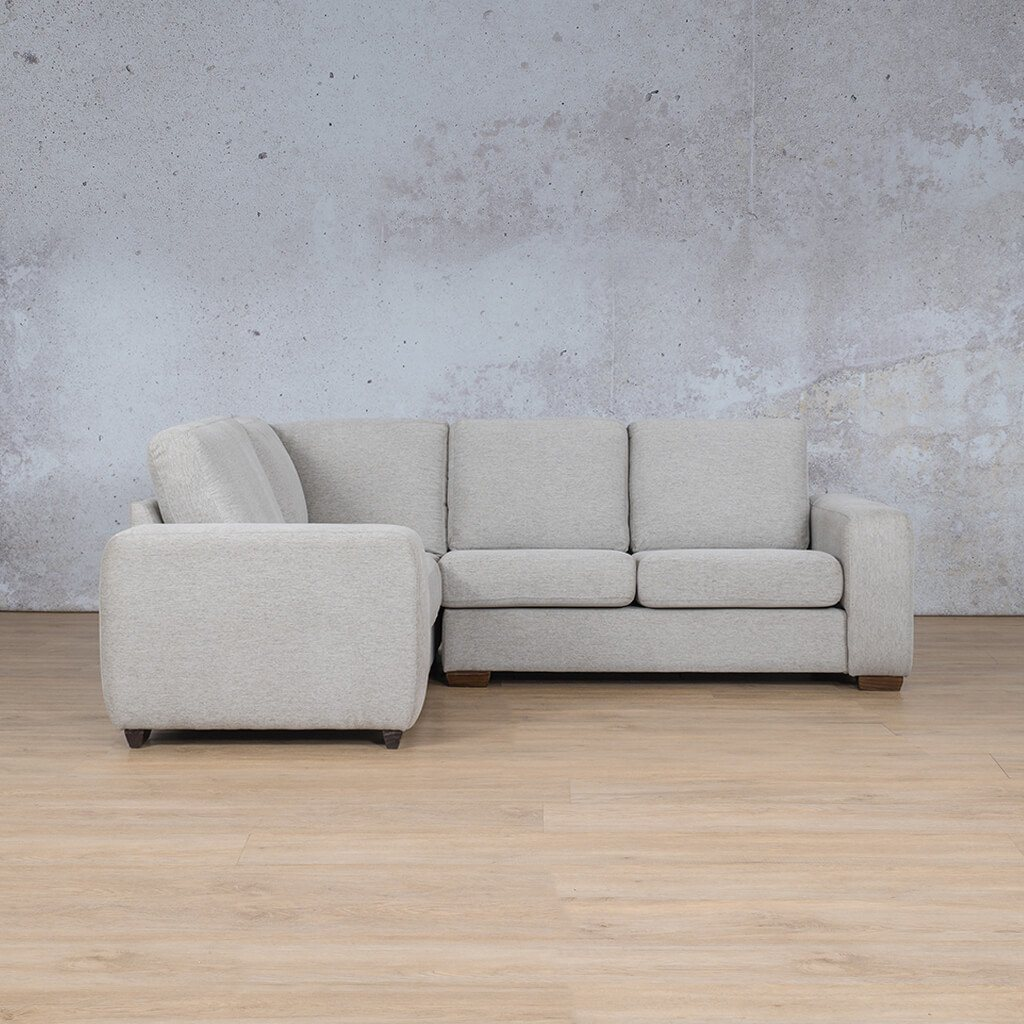 Stanford Fabric Corner Couch | L-Sectional 4 Seater Couch-LHF | Pebble | Side | Couches For Sale | Leather Gallery Couches
