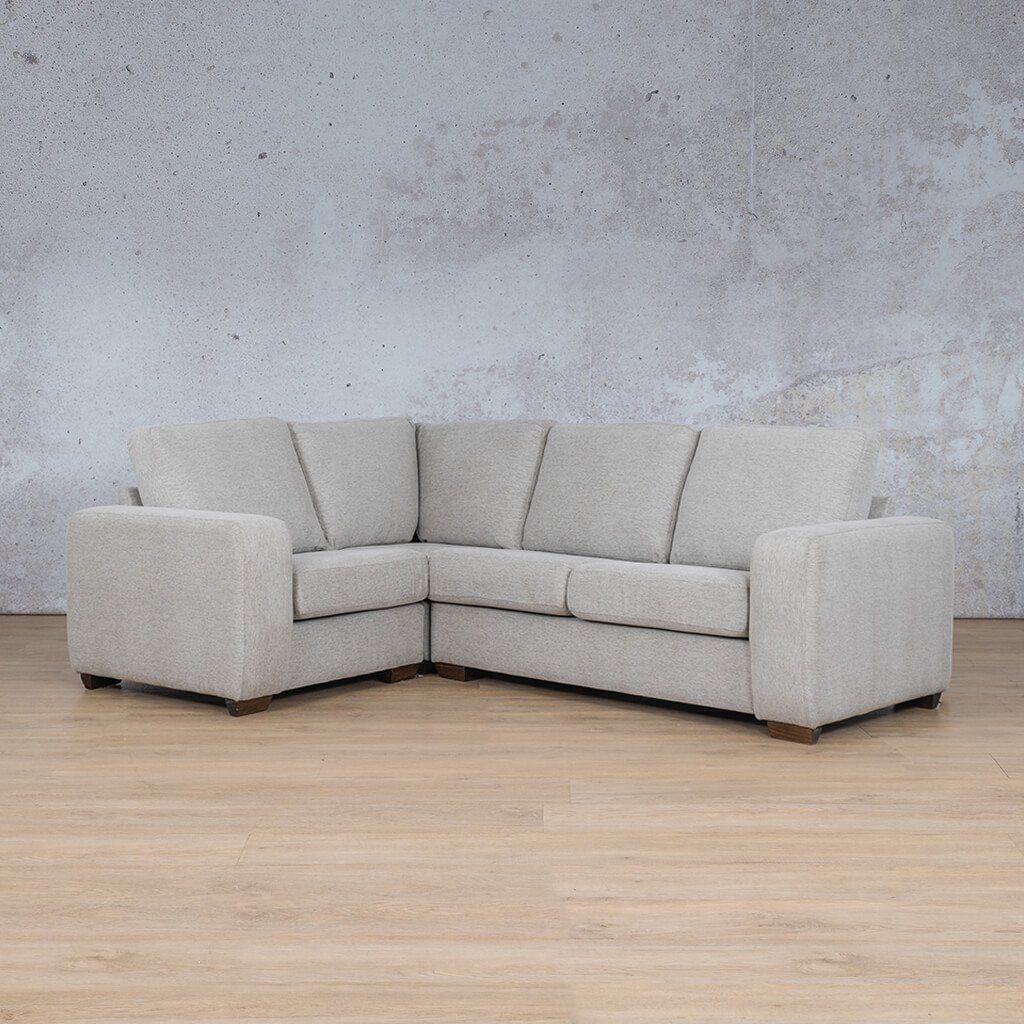 Stanford Fabric Corner Couch | L-Sectional 4 Seater Couch-LHF | Pebble | Couches For Sale | Leather Gallery Couches