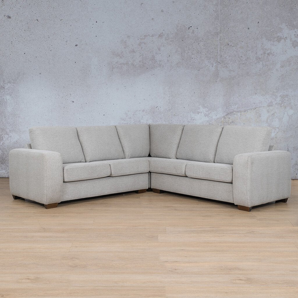 Stanford Fabric Corner Couch | L-Sectional 5 Seater Couch | Pebble | Couches For Sale | Leather Gallery Couches
