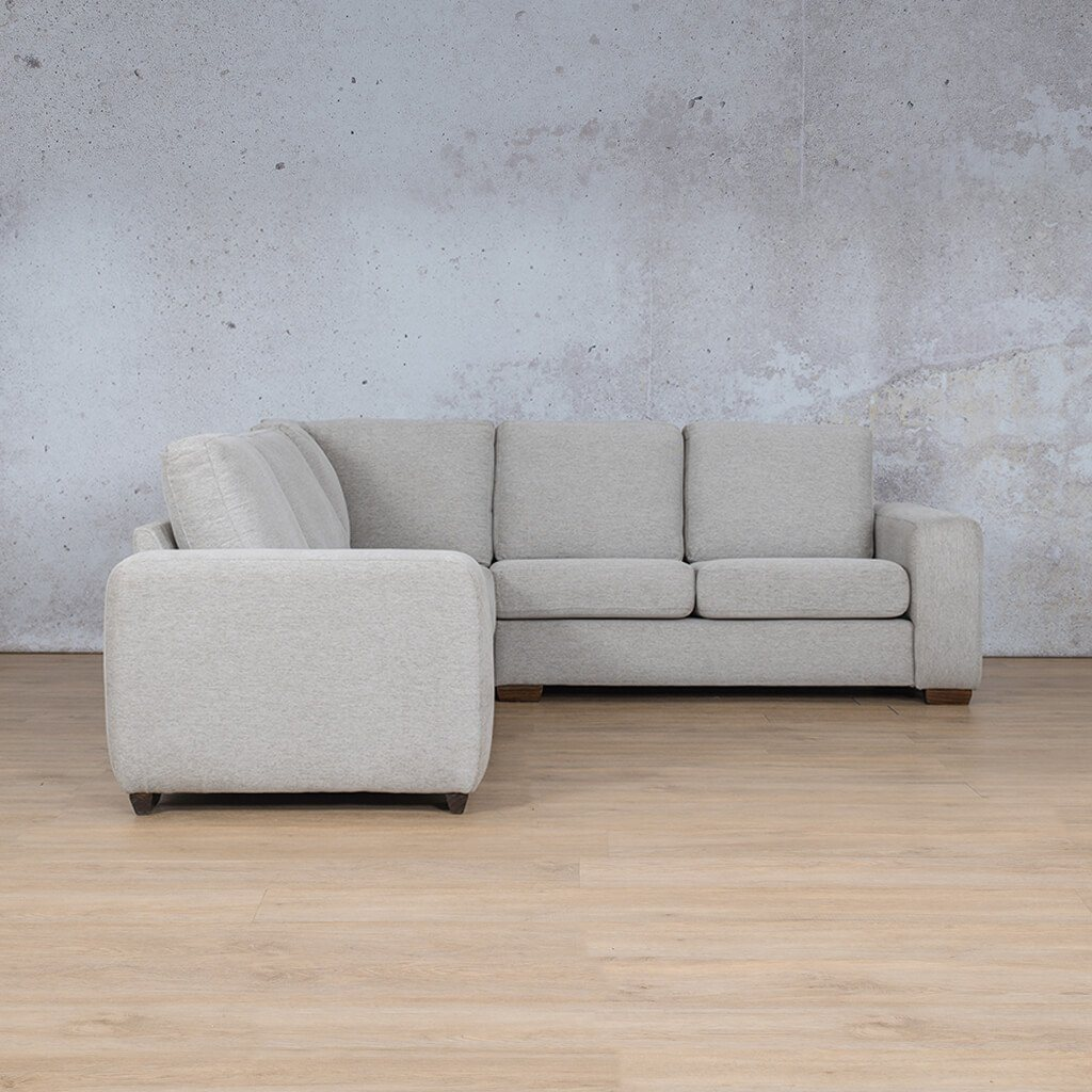 Stanford Fabric Corner Couch | L-Sectional 5 Seater Couch | Pebble | Side | Couches For Sale | Leather Gallery Couches