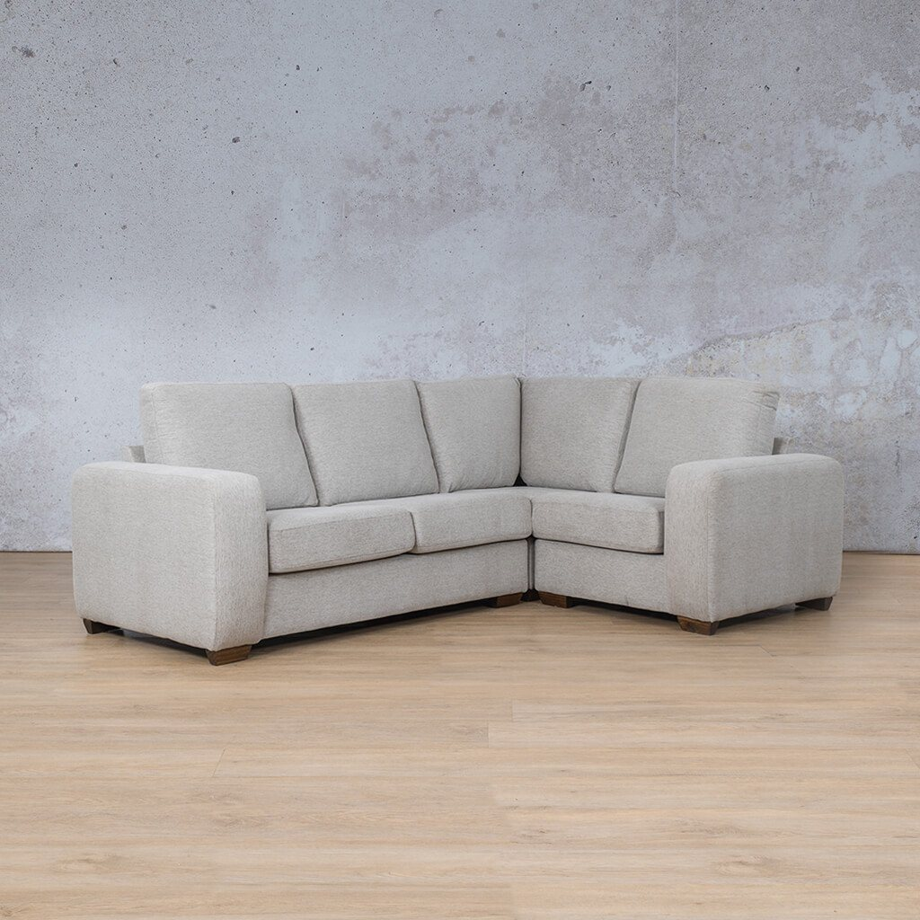 Stanford Fabric Corner Couch | L-Sectional 4 Seater Couch-RHF | Pebble | Couches For Sale | Leather Gallery Couches