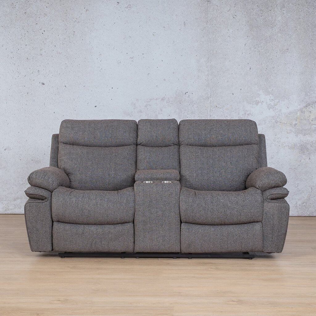 Tinetto Fabric Recliner Couch | 2 Seater Couch | Mochaccino | Couches For Sale | Leather Gallery Couches